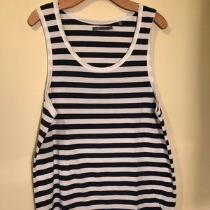 NWOT Vince White and black striped medium tank top